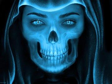 skull demon snarling smile