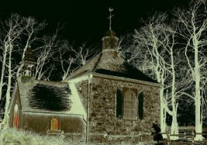 really old spooky church