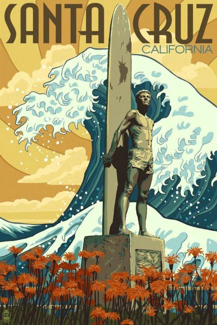 surfing history california Santa Cruz