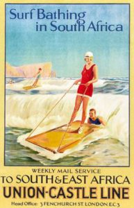 vintage poster surfing in South Africa