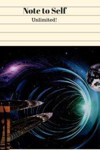 space ship enters worm hole