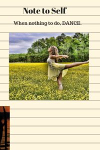 ballet dancer in mustard field